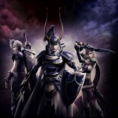 Warrior of Light in a Promotional artwork for Dissidia NT.