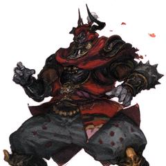 Arte de Gilgamesh no <i>Final Fantasy XIV A Realm Reborn Visual Artbook</i>.