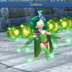 Rydia summoning in DS release