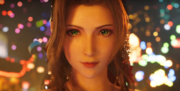 Aerith at Wall Market in FFVII Remake