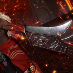 Spiritus readies his weapon.