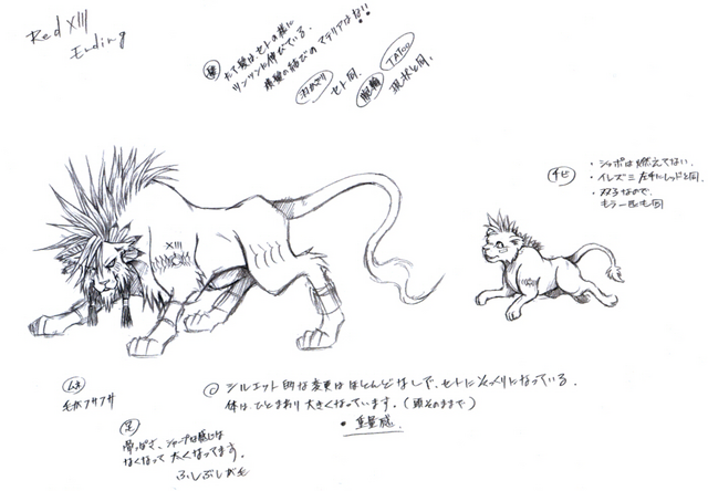 File:Red XIII Sketch.png