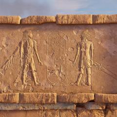 Ноктис и Ардин в <i>Assassin's Creed Origins</i>.