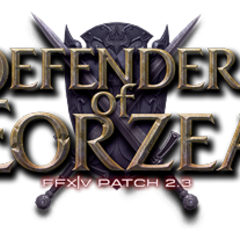 Patch 2.3 <i>Defenders of Eorzea</i> logo