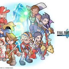Casts of the original <i>Final Fantasy</i> and <i>Final Fantasy II</i>.