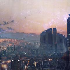 Concept art for <i>Kingsglaive: Final Fantasy XV</i>.