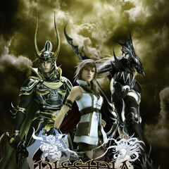 Promotional Poster, showing the Warrior of Light, Lightning, and Kain.