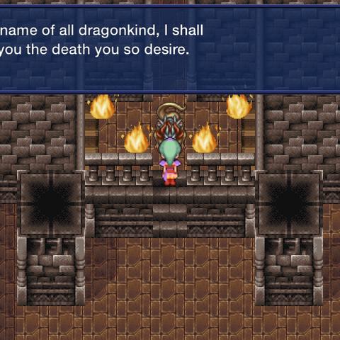 Встреча с Драконом Кайзером в версии игры для <a href=