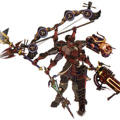 Gilgamesh com oito braços em <i>Final Fantasy Type-0</i>.
