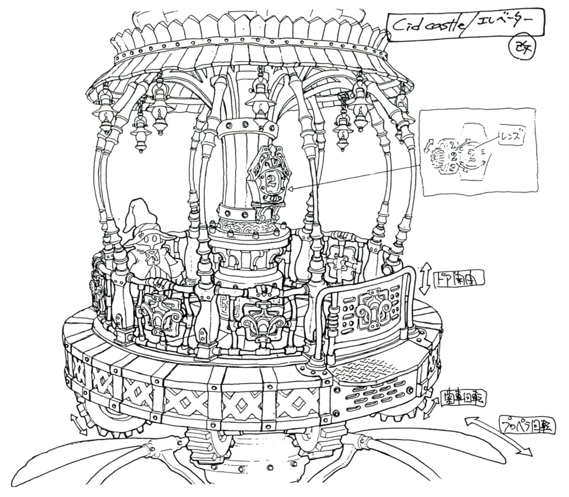 Image Lindblum Castle Lift Ff9 Art 1 Final Fantasy Wiki Marine 3 Wire Alternator Diagram