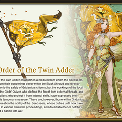 Arte da Order of the Twin Adder por Akihiko Yoshida.