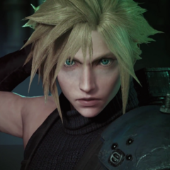 Cloud in <i>Final Fantasy VII</i> remake.