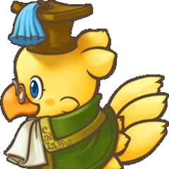 Chocobo as a Scholar in <i><a href=