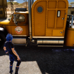 Cindy's tow truck found with an out of bounds glitch.