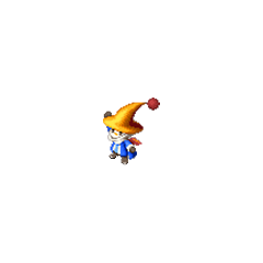 A moogle Black Mage in <i>Final Fantasy Tactics S</i>.