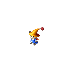 A moogle Black Mage in <i>Final Fantasy Tactics S</i>.