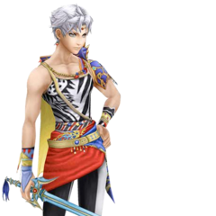 Bartz's alternate Amano artwork render from <i>Dissidia Final Fantasy</i>.