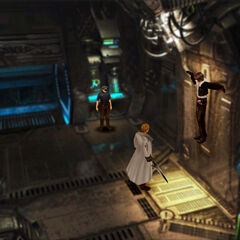 Seifer interrogates Squall.
