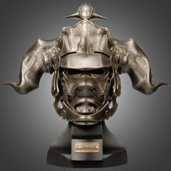 Life size replica of Gabranth's helmet.