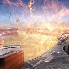 The Sky Fortress <i>Bahamut</i> Mist cannon.