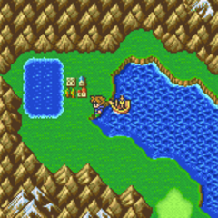 Tule on the World Map in Bartz's World (GBA).