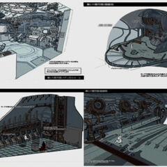 Concept Art for <i>Dirge of Cerberus</i>.