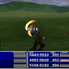 Barret using Slash-All without a Gun-Arm in <i><a href=