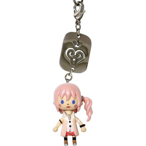 Serah's <i>Kingdom Hearts Re:coded</i> cellphone strap.