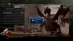 LRFFXIII EP Battle Menu