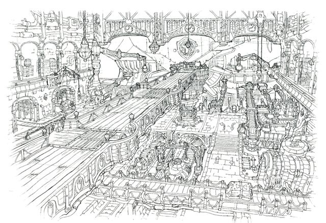 File:Lindblum Castle Airship Hangar Interior FF9 Art 1.jpg