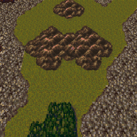 Triangle Island in the World of Ruin (SNES).