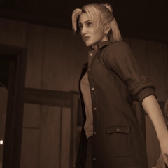 Эльмира в молодости и Аэрис-ребенок в <i>Final Fantasy VII Remake</i>.