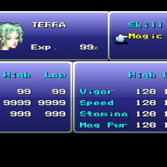 Terra's stats.