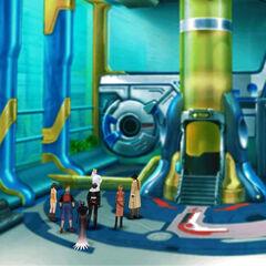 Space capsule entrance.