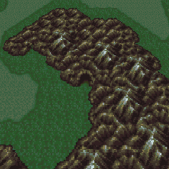 Crescent Mountain on the world map (SNES).