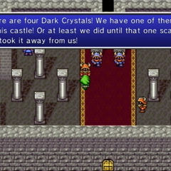 Guard commenting on the theft of the castle's Crystal