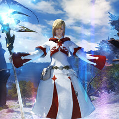 White Mage in-game render.