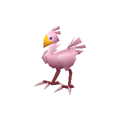 Pink chocobo.