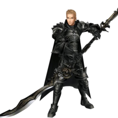 Render of Gabranth's first alternate outfit from <i>Dissidia</i>, based on his Amano artwork.