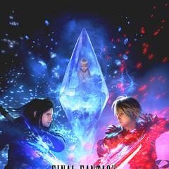 Arte promocional apresentando Fina envolta em um cristal.