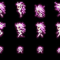 Set of Terra's Esper sprites.