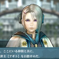 Miyu in a cutscene.