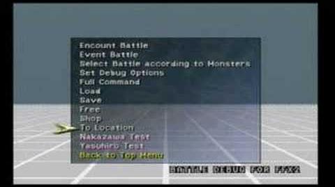 Final Fantasy X-2 Debug Room
