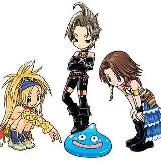 Paine, Rikku e Yuna.