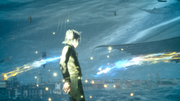 Noctis enters full Armiger against Leviathan in FFXV