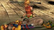 Rikku and dying Keyakku