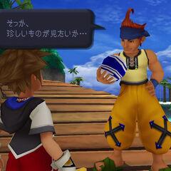 Aparênia em jog em <i>Kingdom Hearts 1.5 HD Remix</i>.