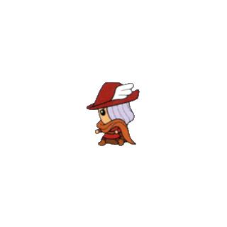 Arte do <i>Red Mage</i> do guia de estratégia <i>V-Jump</i> para a versão de WSC.