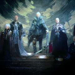 Регис в окружени членов Королевского совета Люциса.