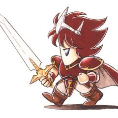 Arte de Kazuko Shibuya para o <i>Final Fantasy IV</i> (SNES).